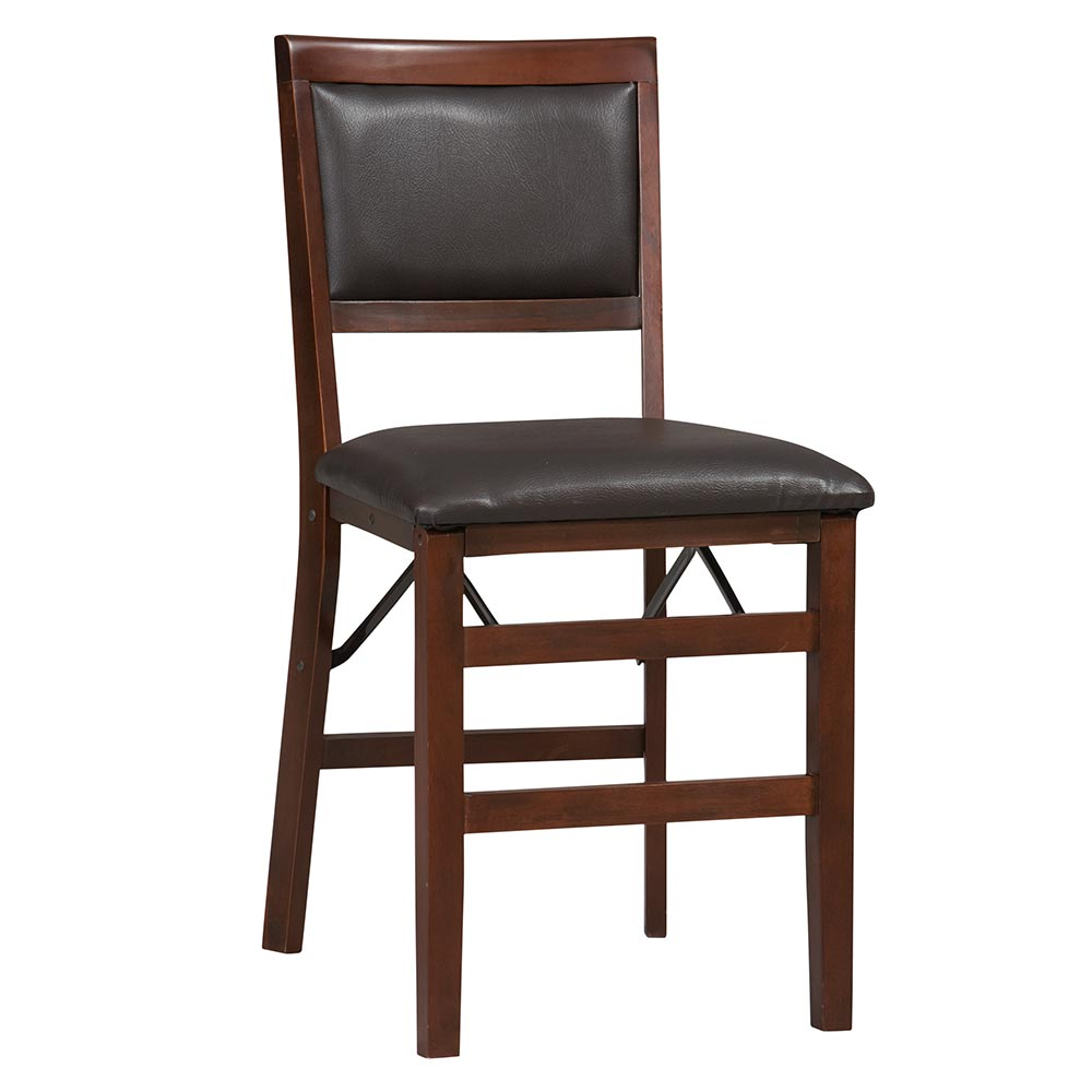 Linon Triena Padded Back Wood Folding Chair - Set of 2 - Espresso Finish at Sears.com