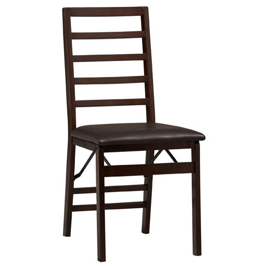 Linon Triena Ladder Back Wood Folding Chair - Set of 2 - Espresso Finish at Sears.com