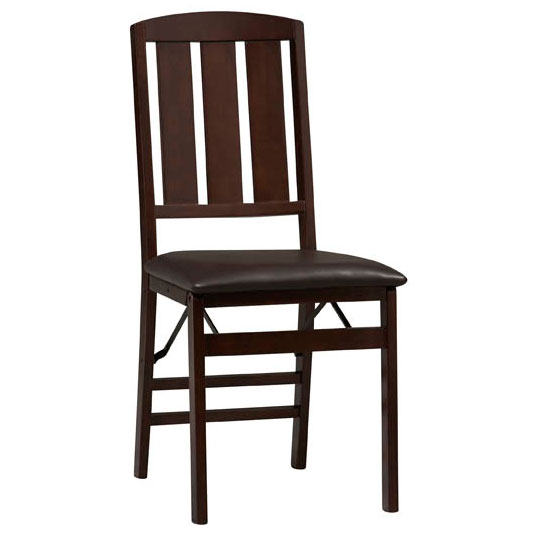 Linon Triena Slat Back Wood Folding Chair - Set of 2 - Espresso Finish at Sears.com