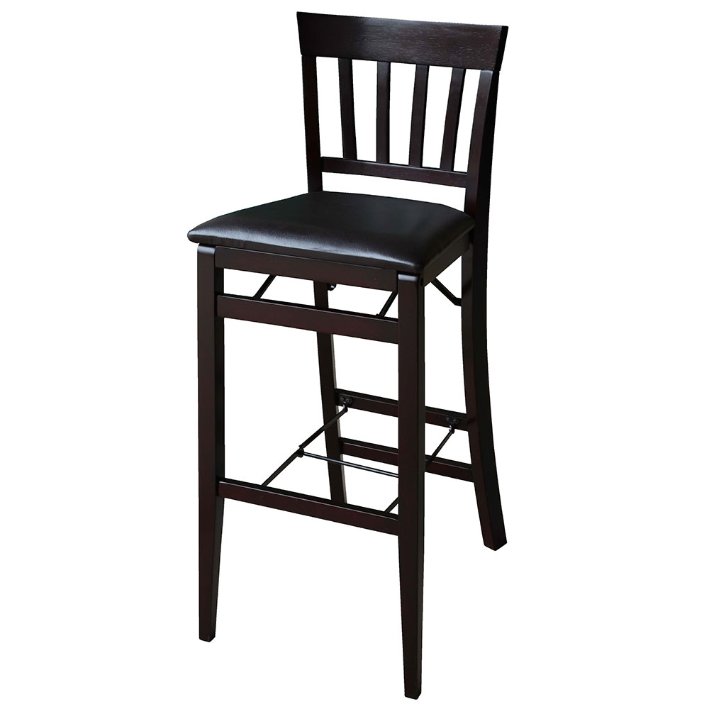 "Linon Triena 24"" Mission Back Wood Folding Counter Stool - Espresso Finish at Sears.com"