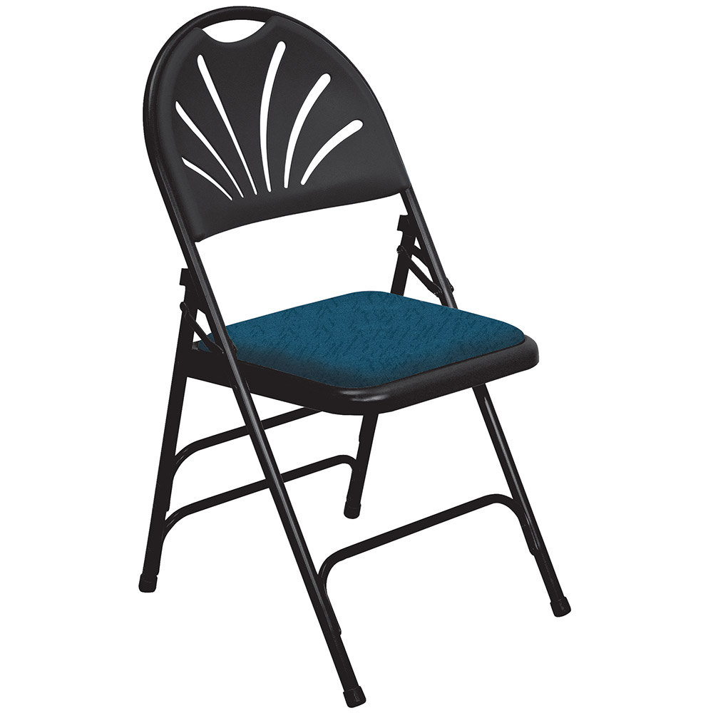 National Public Seating 4 Pack 1014 Black/Blue Padded Steel Folding Chair at Sears.com