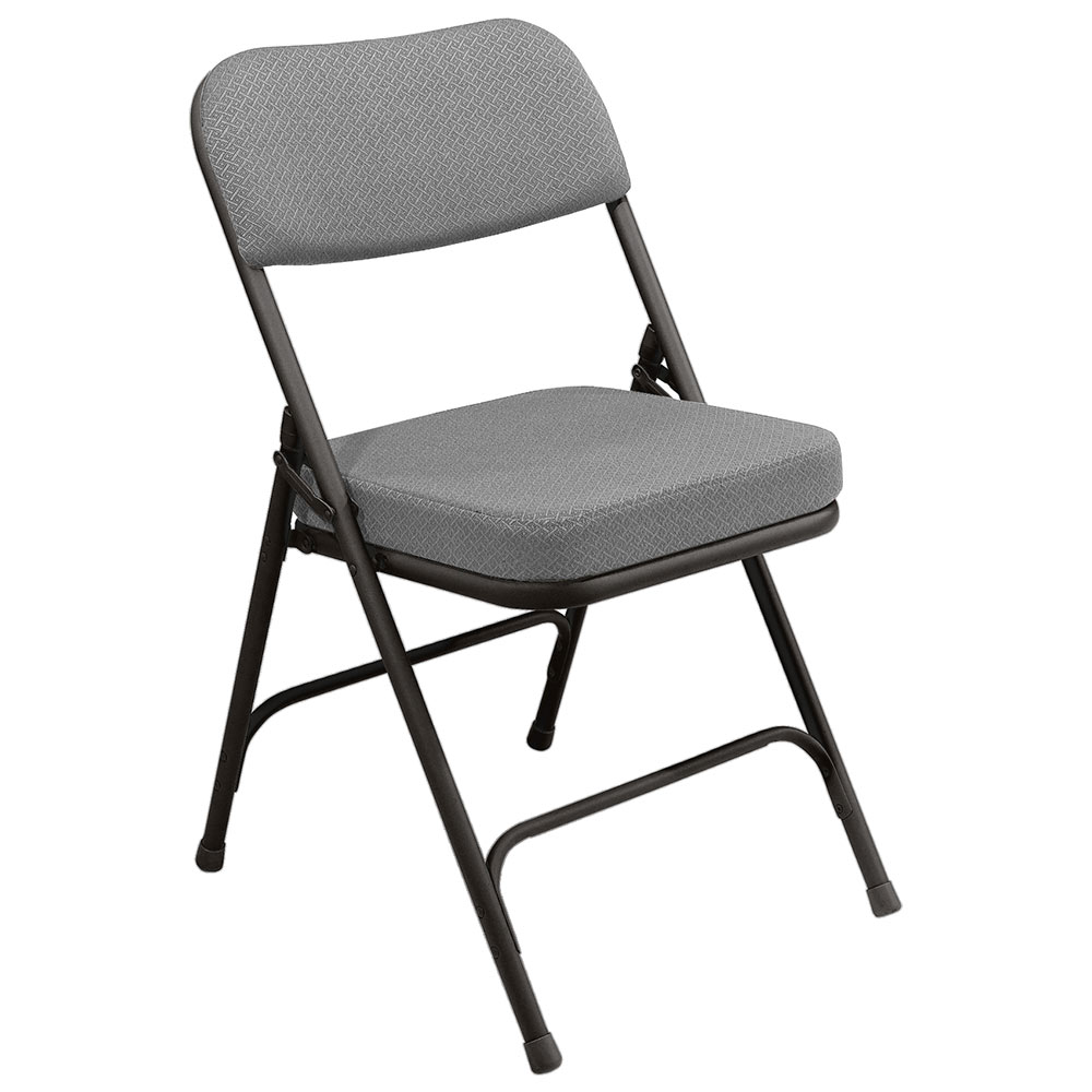 National Public Seating 4 Pack 3212 Black/Gray Thick Padded Folding Chair at Sears.com