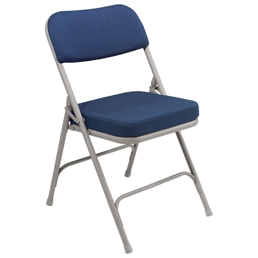 National Public Seating 4 Pack 3215 Gray/Blue Thick Padded Folding Chair at Sears.com