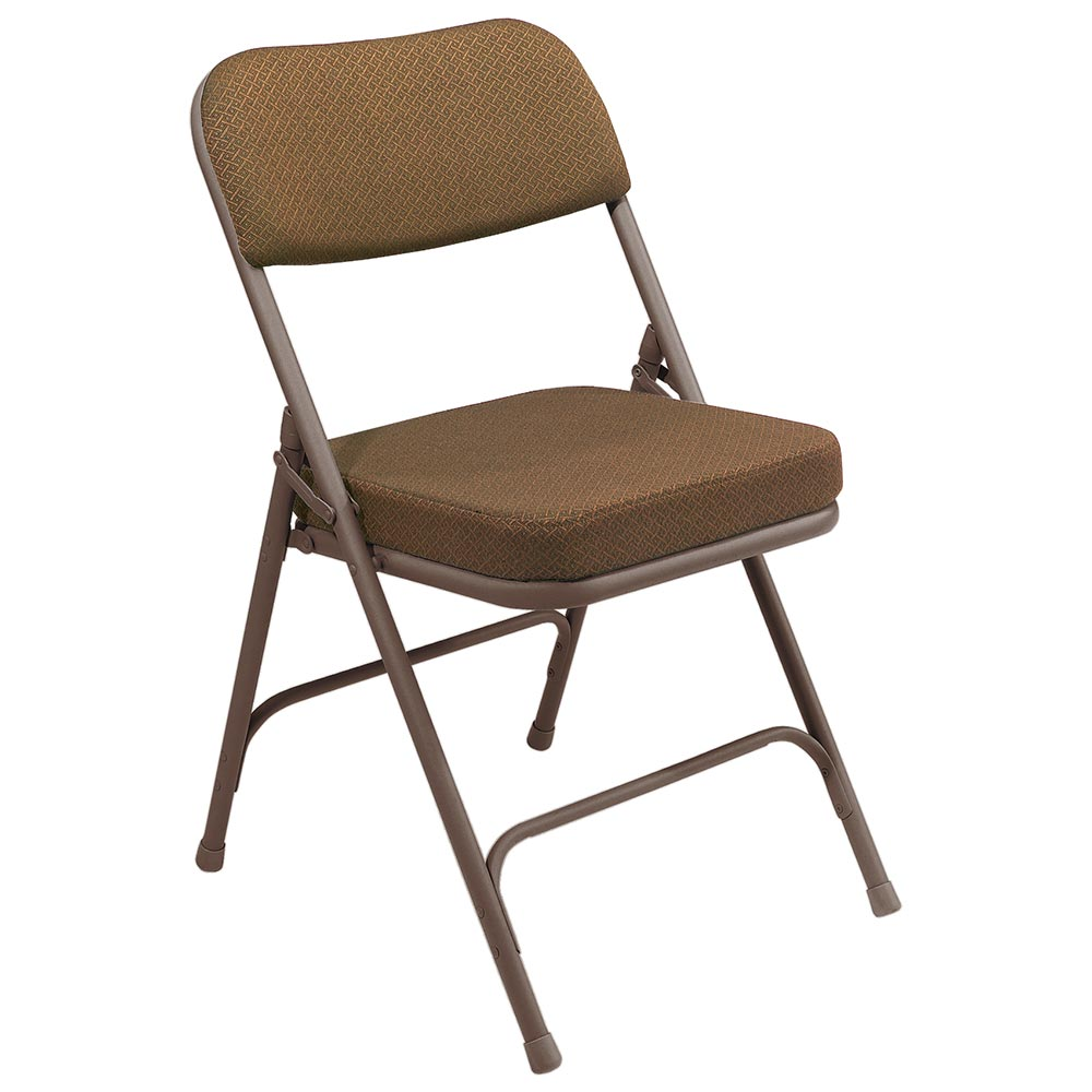 National Public Seating 4 Pack 3219 Brown/Gold Thick Padded Folding Chair at Sears.com