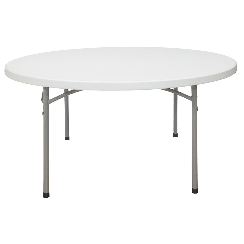 "National Public Seating BT-60R Gray Round Lightweight Folding Table w/60"" Diameter at Sears.com"